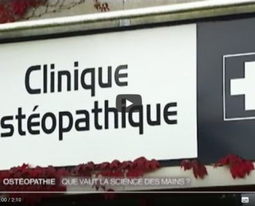 reportage france 2 metier osteopathe